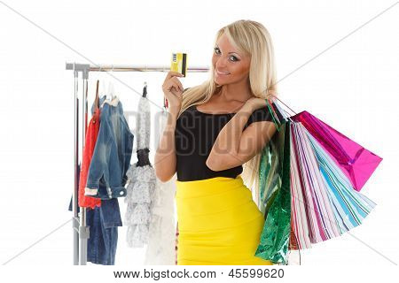 Happy Shopping Woman.