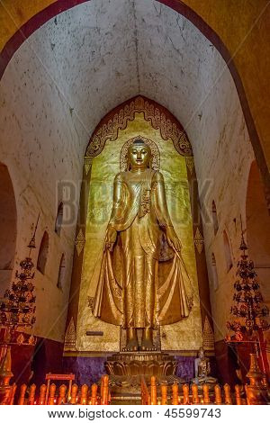 Ancient golden Buddha statue