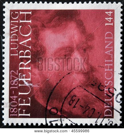 GERMANY - CIRCA 2004: A stamp printed in Germany shows Feuerbach circa 2004