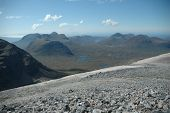 stock photo of gneiss  - The landscape of Northern Scotland near Torridon - JPG