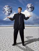 Stock Photo: Balancing Global Business
