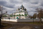 picture of uglich  - Resurrection Monastery on the Volga River in the ancient Russian town of Uglich - JPG