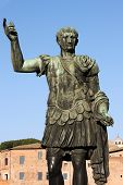 stock photo of tyranny  - Statue of emperor Trajan in Rome - JPG