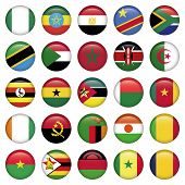 foto of north sudan  - African Flags Round Icons - JPG