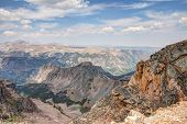 stock photo of beartooth  - This image was taken from a turnout on the Beartooth All American Scenic Highway Wyoming - JPG