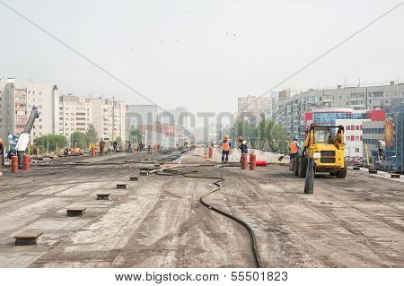 Construction of outcome between city roads