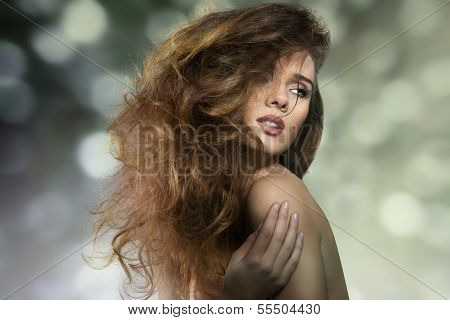 Sexy Girl With Crazy Hair-style