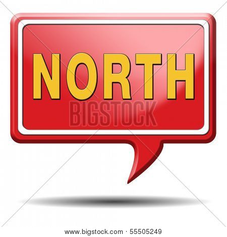 north geographical compass direction north icon north button