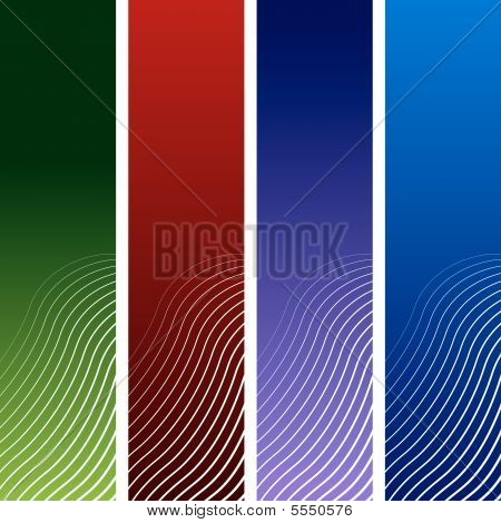 Vertical tone banners