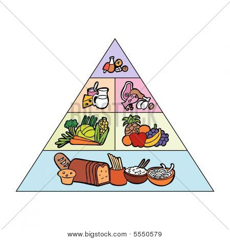 Food pyramid color