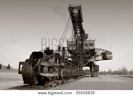 old coal excavator