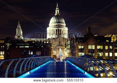 Illuminated St. Pauls Cathedral