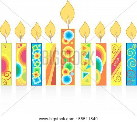 chanuka background with candles