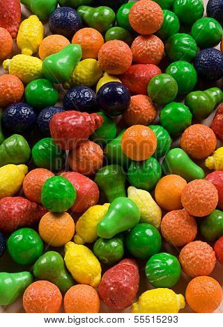 Colorful candy's as a background
