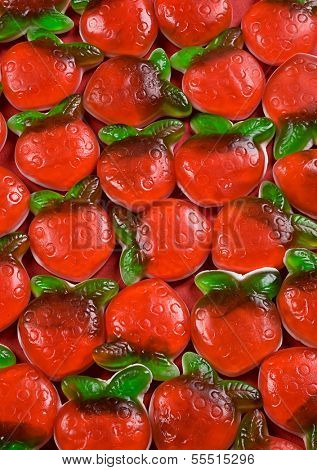 Strawberry jelly candy as a background