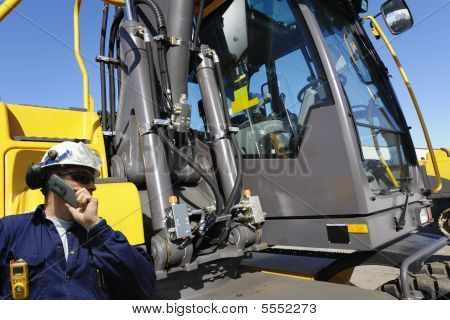 driver and bulldozer