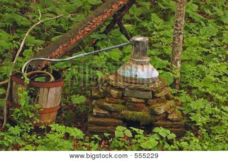 Antique Moonshine Whiskey Still