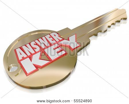 Answer Key Words Solution Problem Solved