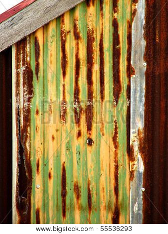 Rusty Tin Wall Background Texture
