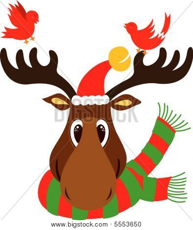 Christmas Reindeer Head