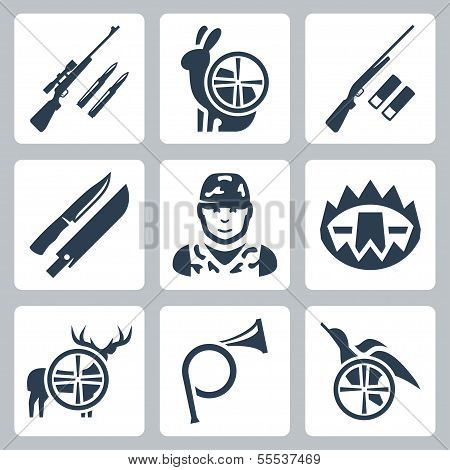 Vector Hinting Icons Set