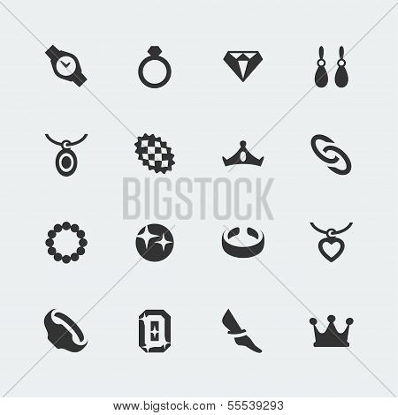 Vektor-Schmuck-Mini-Icons Set