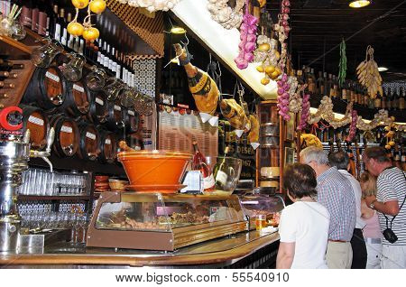 Tapas bar, Malaga, Spain.