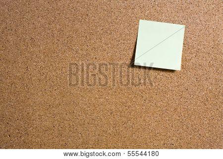 Sticky Notes On Cork Board