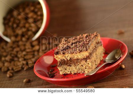 Banana small cakes with chocolate cream