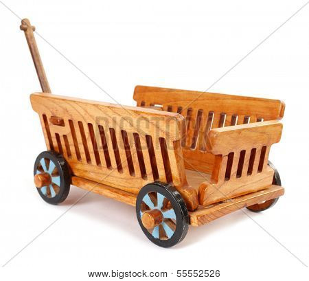 Toy wagon wooden vintage