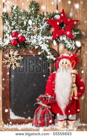 Christmas greeting card or wish list.
