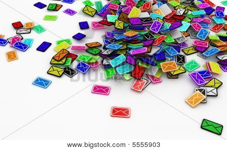 Color Email Pile