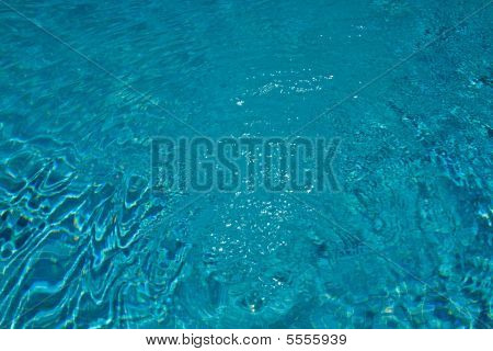 Swirling Water In The Pool