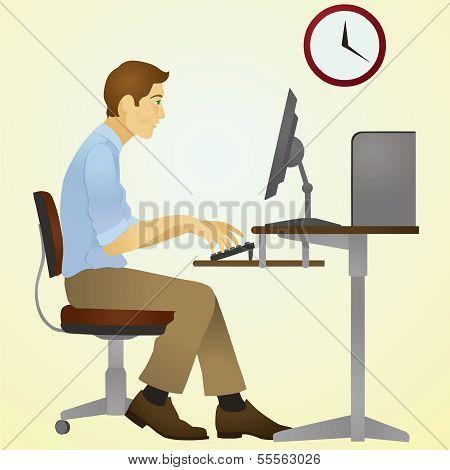 Sleepy typist