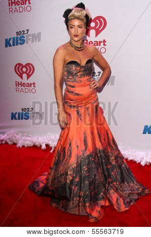 LOS ANGELES - DEC 6:  Neon Hitch at the KIIS FM Jingle Ball 2013 at Staples Center on December 6, 2013 in Los Angeles, CA
