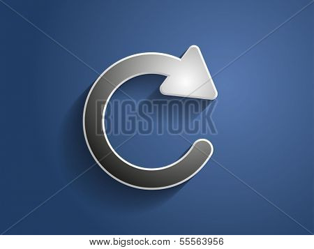 3d Vector icon of reload button