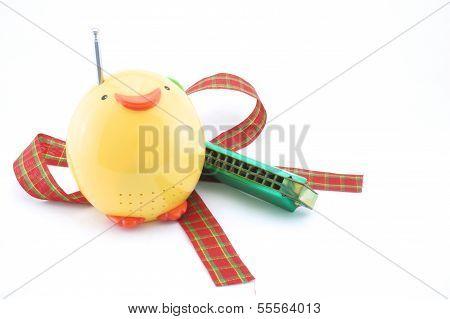 grüne Mundharmonika