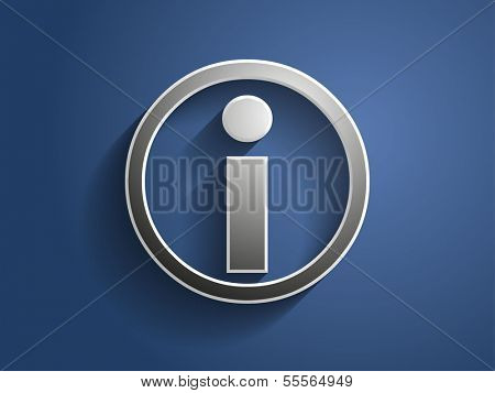 3d Vector illustration of info icon
