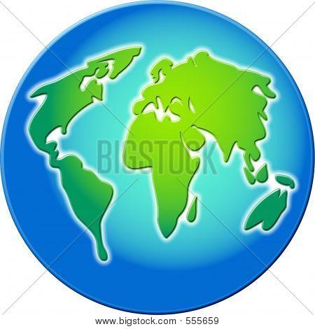 Bevelled Globe