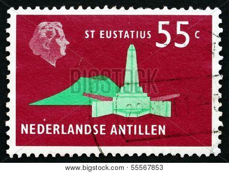 Postage Stamp Netherlands Antilles 1973 De Ruyter Obelisk