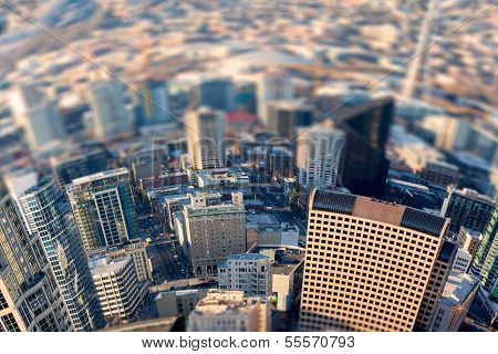 Seattle bird's-eye view, Tittle shift focus effect