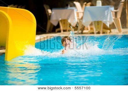 Sliding In Pool
