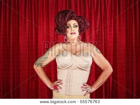 Drag Queen In Corset
