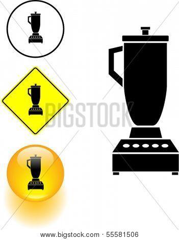 blender symbol, sign and button