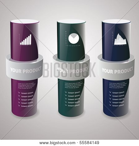 cylinder box mock-up. Vector illustration.??????
