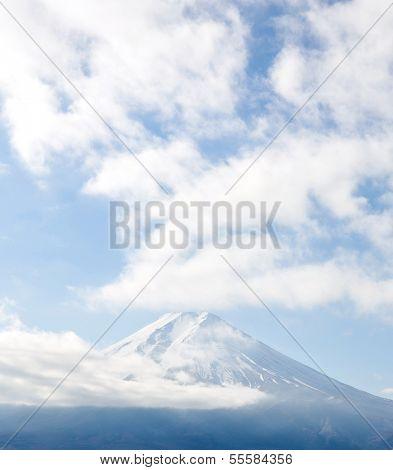 Cloudy with Mountain Fuji fujisan at Yamanashi Japan