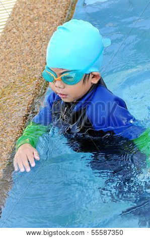 Boy With Swimming Accessories
