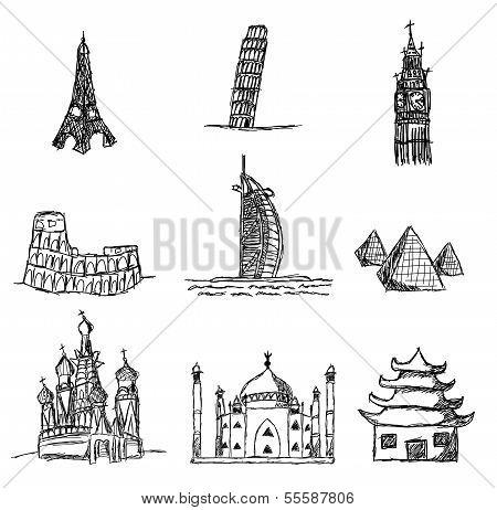 World Famous Places Of Interest, Set