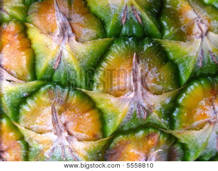Close Up Of Pineapple Skin