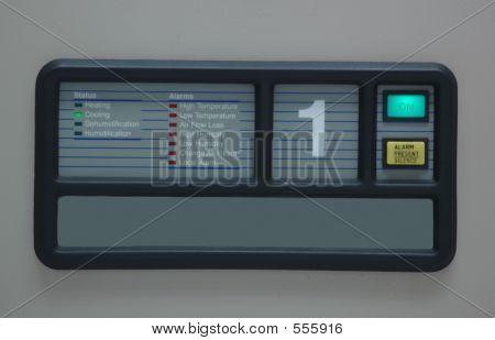 Painel de controle do condicionador